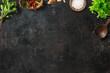 Leinwanddruck Bild Küche und Kochen   Frische Kräuter, Zutaten und Kochlöffel