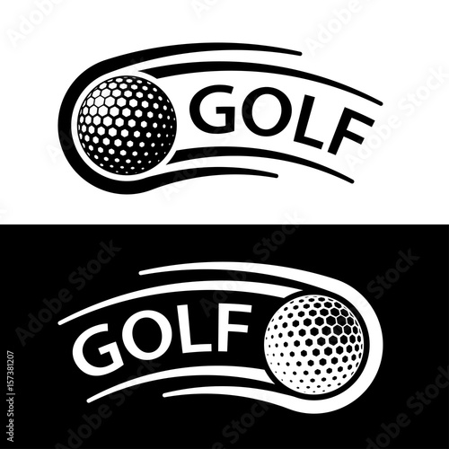 Valokuva  golf ball motion line symbol vector