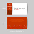 Vector modern and clean red business card design template