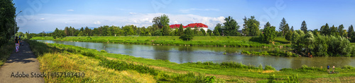 Deurstickers Groene Latoritsa river panorama