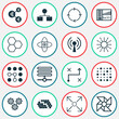 Robotics Icons Set. Collection Of Solution, Computing Problems, Mechanism Parts And Other Elements. Also Includes Symbols Such As Network, Cpu, Control.