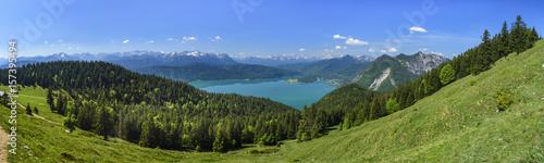 Fotografia, Obraz  herrliche Gebirgslandschaft rund um den Walchensee in Oberbayern