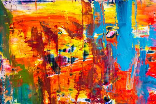 Foto auf Gartenposter Graffiti abstrakter Hintergrund mit knalligen Farben