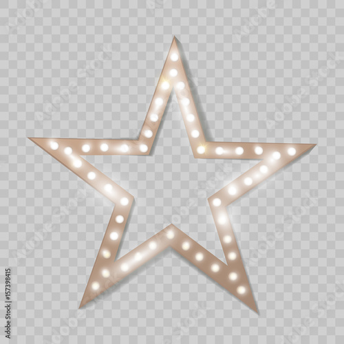 Photo  Star. Retro light. Vector illustration