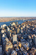 Aerial view of Manhattan and Brooklyn NYC