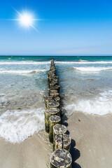 Fototapeta Morze ostsee, wellen, wasser, sonne, sand, strand