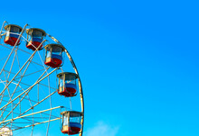 Ferris Wheel With A Secure Closed Cabins
