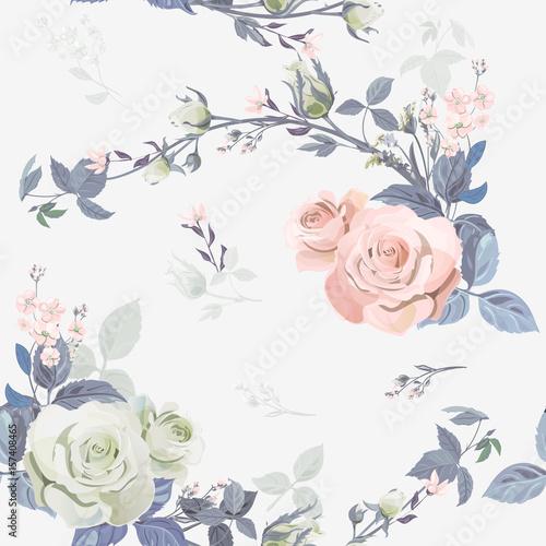 wektor-kwadratowy-kwiecisty-bezszwowy-wzor-galeziasta-kedzierzawa-menchii-roza-bukieta-ogrod-kwitnie-paczki-liscie-na-bialym