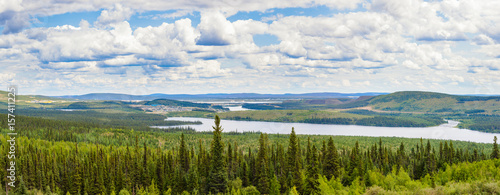 Spoed Foto op Canvas Canada Labrador City Wabush mining towns pano NL Canada
