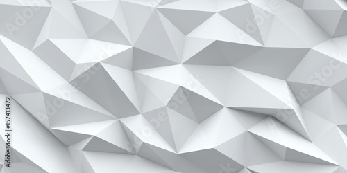 Fotografie, Obraz  White background. Abstract triangle texture.