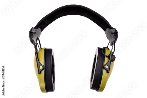Fotografia, Obraz  Soundproof headphones isolated on white