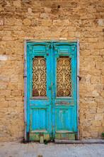 Broken Ancient Blue Door