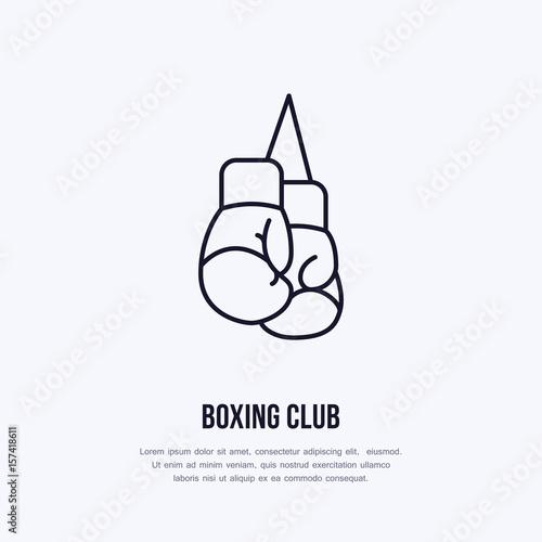Valokuva  Boxing gloves vector line icon