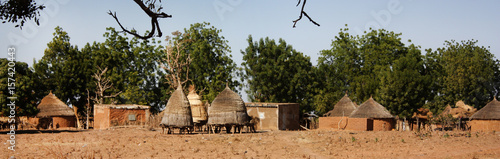 Photo African village huts