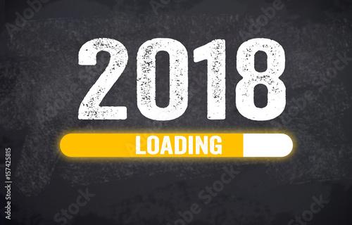 Glücksklee, Klee, Silvester, Glücksbringer, Willkommen 2018 Plakát
