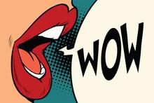 Pop Art Mouth Wow