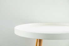 Empty Modern Round White Table...