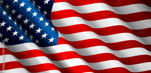 Fototapeta United States Flag Vector