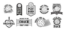 Volleyball Logo Set, Vector Illustration
