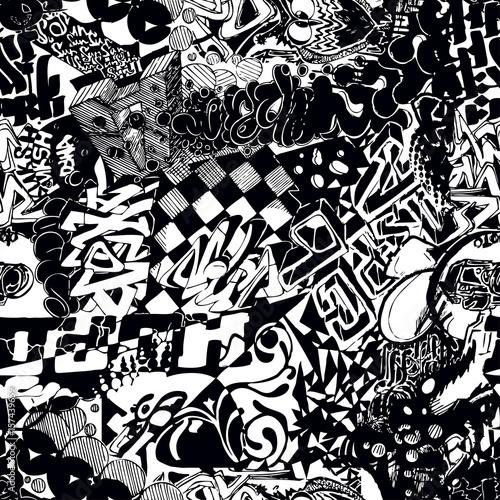 czarno-biale-graffiti-bez-szwu
