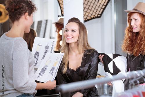 Photo  Fashion designer and professional model