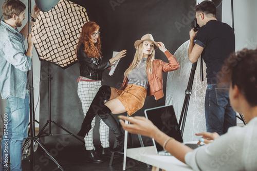 Fototapeta  Model during photoshoot