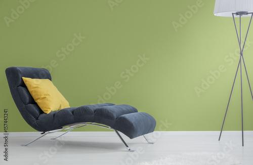 Navy blue chaise longue Poster Mural XXL