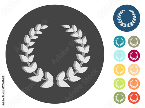 Obraz na plátně 3D Icons - Lorbeerkranz - Auszeichung