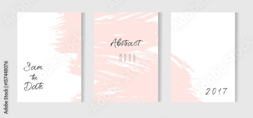 Hand Drawn Vector Abstract Creative Unusual Simple Save The Date