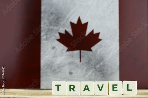 Fotografía  Canada Flag and Travel