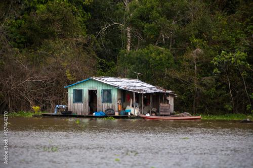 Keuken foto achterwand San Francisco Floating houses in amazon river - Manaus - Brazil