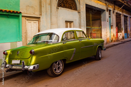 Foto op Canvas Havana Old Car in Havana Cuba