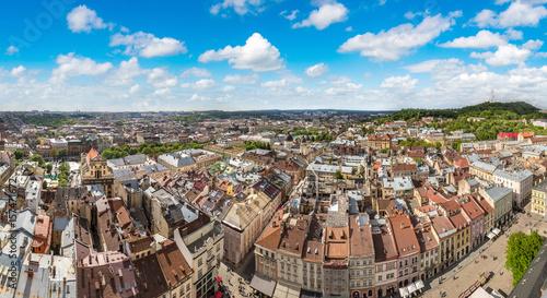 Staande foto Praag Aerial view of Lviv