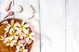 Spa and massage decoration on white background