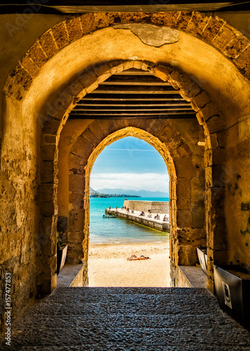 Canvas Print Cafalu Sicily - Archway to Beach.jpg