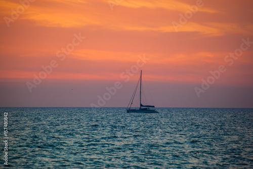 Papiers peints Corail saescape on sunset