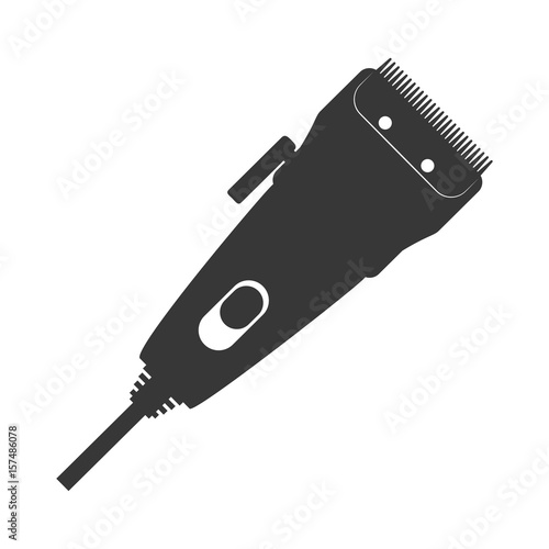 Photo haircutting machine isolated icon vector illustration graphic design