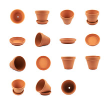 Empty Ceramic Flower Pot Isolated