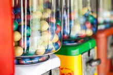 Close Up Of Old Gumball Machine