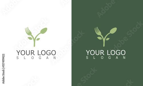 Fotografie, Obraz ree fork spoon logo