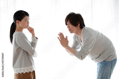 夫婦喧嘩 Tablou Canvas
