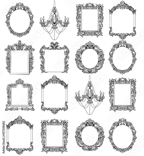 Photo Rich Imperial Baroque Rococo frames set