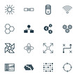 Artificial Intelligence Icons Set. Collection Of Algorithm Illustration, Laptop Ventilator, Lightness Mode And Other Elements. Also Includes Symbols Such As Shine, Cycle, Information.