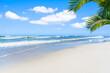 Strand, palme, meer, blauer himmel