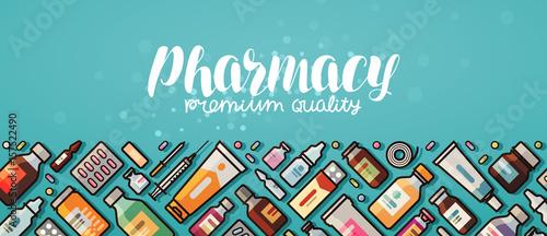 Stampa su Tela  Pharmacy banner