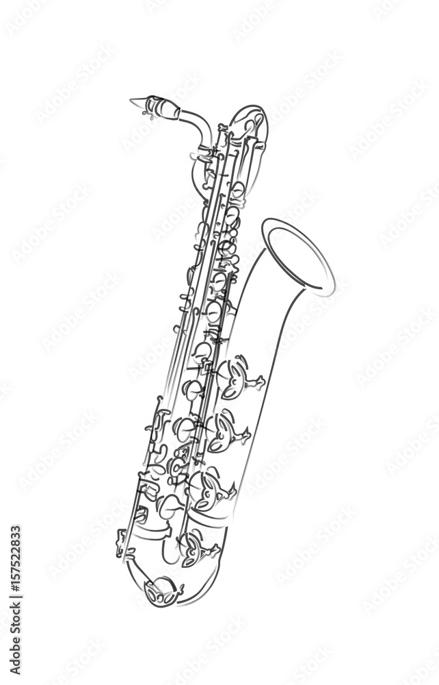 Fotografía Saxophone Baryton Europosterses