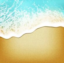 Strand Hintergrund Am Wasser  -  Aufsicht Realistisch