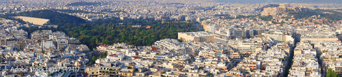 Photo sur Toile Europe Centrale Photo from Lycabettus hill with panoramic view to Athens, Attica, Greece