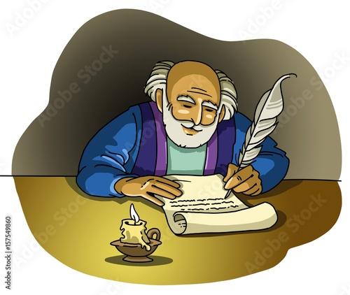 An Apostle or a Prophet write a Letter Canvas Print