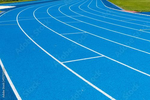 Blue Running track Fototapeta